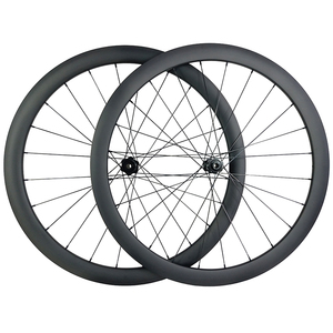Image 1 - 1360g 700c 42mm asimetrik yol disk karbon tekerlekler 25mm U şekli kattığı tubeless düz çekme Novatec D411SB D412SB 6 cıvata CL