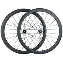 Roues de route asymétriques en carbone, 1360g, 700c 42mm, pneu tubeless en forme de U à traction droite, Novatec D411SB D412SB 6 boulons CL