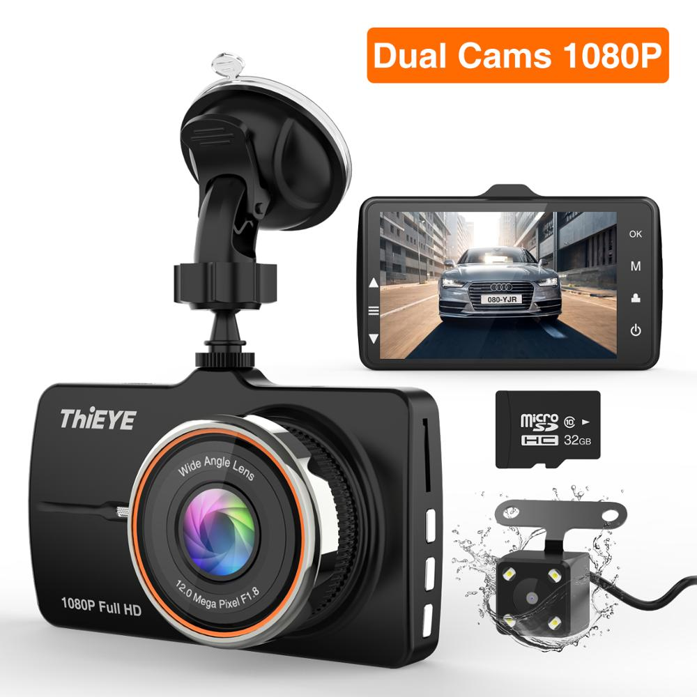 ThiEYE Carbox 5R Dash Cam Real 1080P Full HD Front Camera With  720P HD IP67 Water Resistant Rear Camera Dual Lens Car Recorder