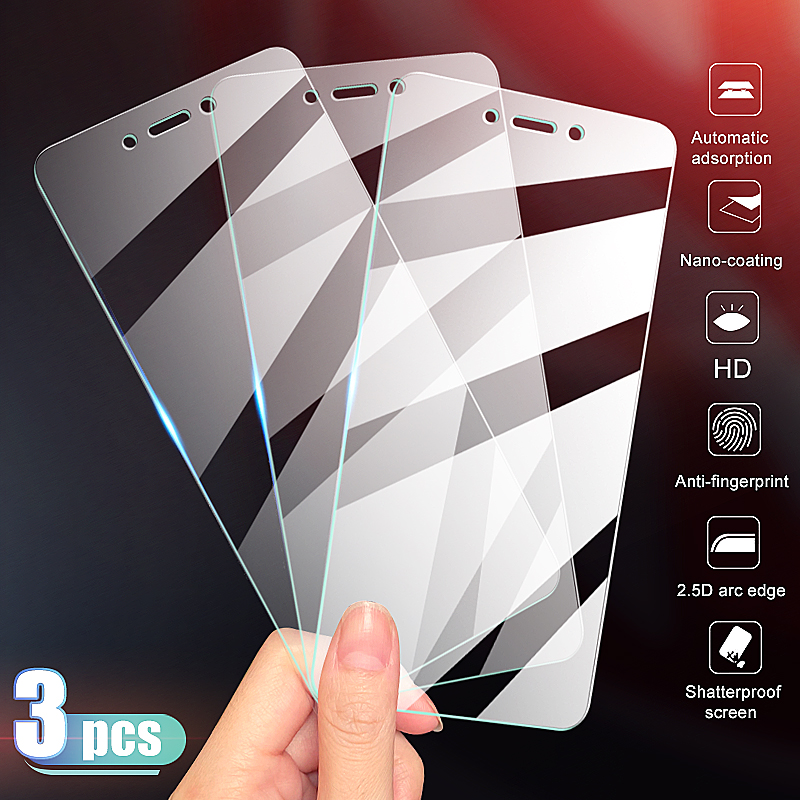 3-1Pcs Protective Glass For Xiaomi Redmi 5 Plus 4A 4X 5A S2 Go K20 Screen Protector Redmi Note 4 4X 5 5A Pro Tempered Glass Film