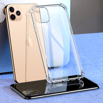 Funda Clear Airbag Silicone Phone Case For iPhone 11 Pro X XR XS Max SE 2020 7 8 6S Plus Luxury Shockproof Protection Back Cover image