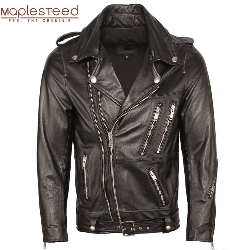 Motorcycle Leather Jacket Men Genuine Leather Jackets 100% Cowhide Sheepskin Moto Biker Leather Jacket Man Skin Coat Autumn M353