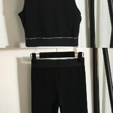111016 Summer New Classic Fashion Letter Printing Brand Luxury Design Vest+ Elastic Waist 5-point Casual Shorts Sports Suit A2