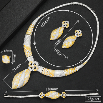 4Pc Choker Jewelry Set 5