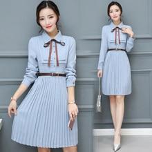2020 jesienno zimowa Vintage szyfonowa Casual Midi sukienka Bodycon koreański koszula biurowa sukienki eleganckie kobiety Party z długim rękawem Vestido
