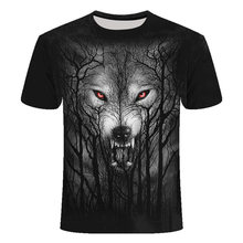 Männer T-shirt Casual 3D lion gedruckt kleidung kurzarm atmungsaktiv Top Tees casual Tier Sommer Tops Hip Hop Fitness t-shirts(China)