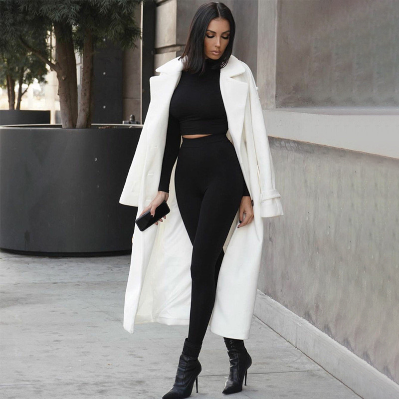Two Piece Sets Women Solid Autumn Tracksuits High Waist Stretchy Sportswear Hot Crop Tops And Leggings Matching Outfits 2