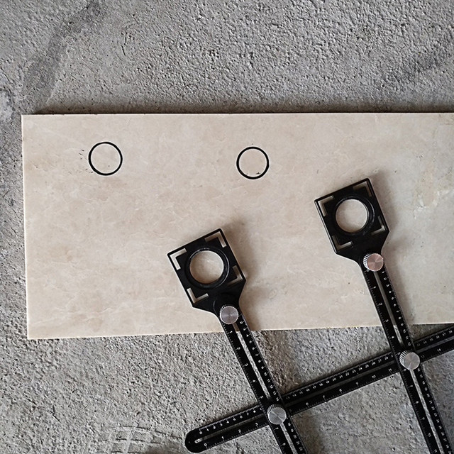 Płytka ceramiczna lokalizator otworów regulator wysokości płytek uniwersalna regulowana płytka błotna szkło naprawiono dziurkacz wielofunkcyjne narzędzie do układania płytek
