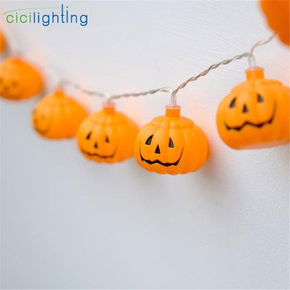 LED Lantern Halloween Holiday Lights String Manual DIY Pumpkin Light String Battery Or USB 5V Ins Style Decorative Light String