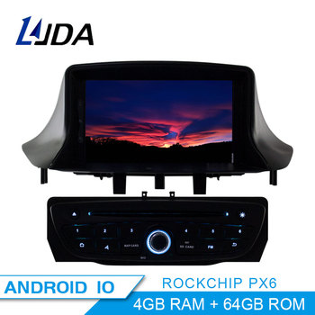 PX6 Android 10.0 Car DVD Player For Megane Fluence 2009 2010 2011 Car Multimedia Player GPS Navigation 1 Din Car Radio Stereo image