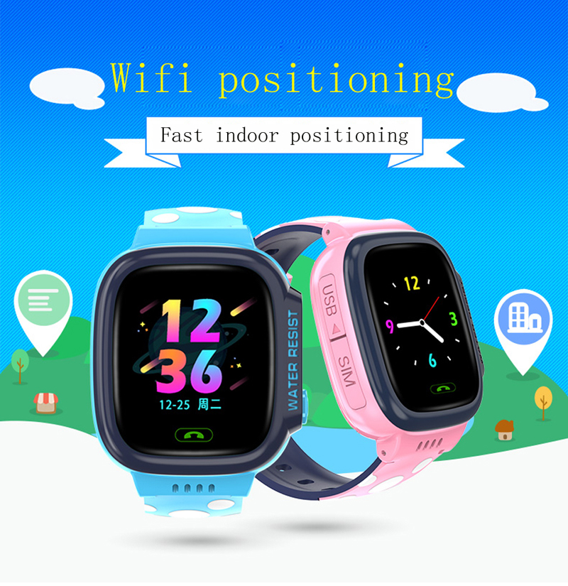Image 2 - GEJIAN kids watches IPX7 waterproof touch screen SOS mobile phone call device GPS positioning tracker anti lost children's watch-in Children's Watches from Watches