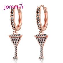 Europe Women Cubic Zirconia Drop Earrings Cocktail Candy Cup Goblet Shining Piercied Ear Rings Hanging Jewelry Wedding Party