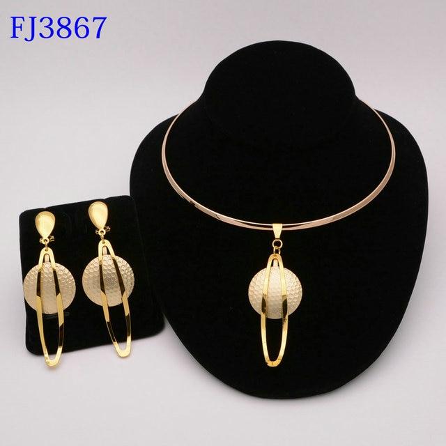 Moda nigeriano mulher casamento africano contas conjunto de jóias cor do ouro moda dubai cor ouro presente de noiva 1