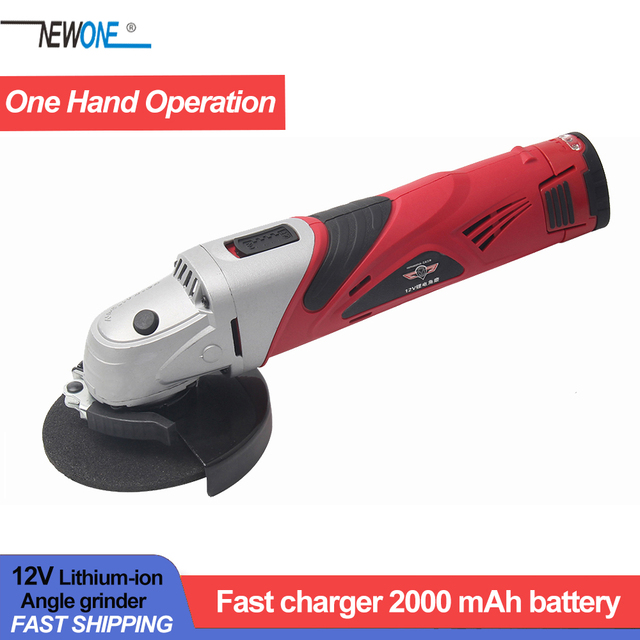 Hephaestus 12V Chargable Angle Grinder Angular Grinding Metal Wood Cutting Machine with 2A Lithium Battery