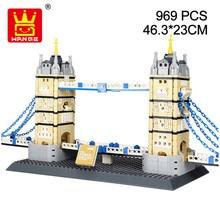 Wange 4219 City Architecture The Tower Bridge Model Building Blocks Enlighten Figure Toys For Children Christmas Gift
