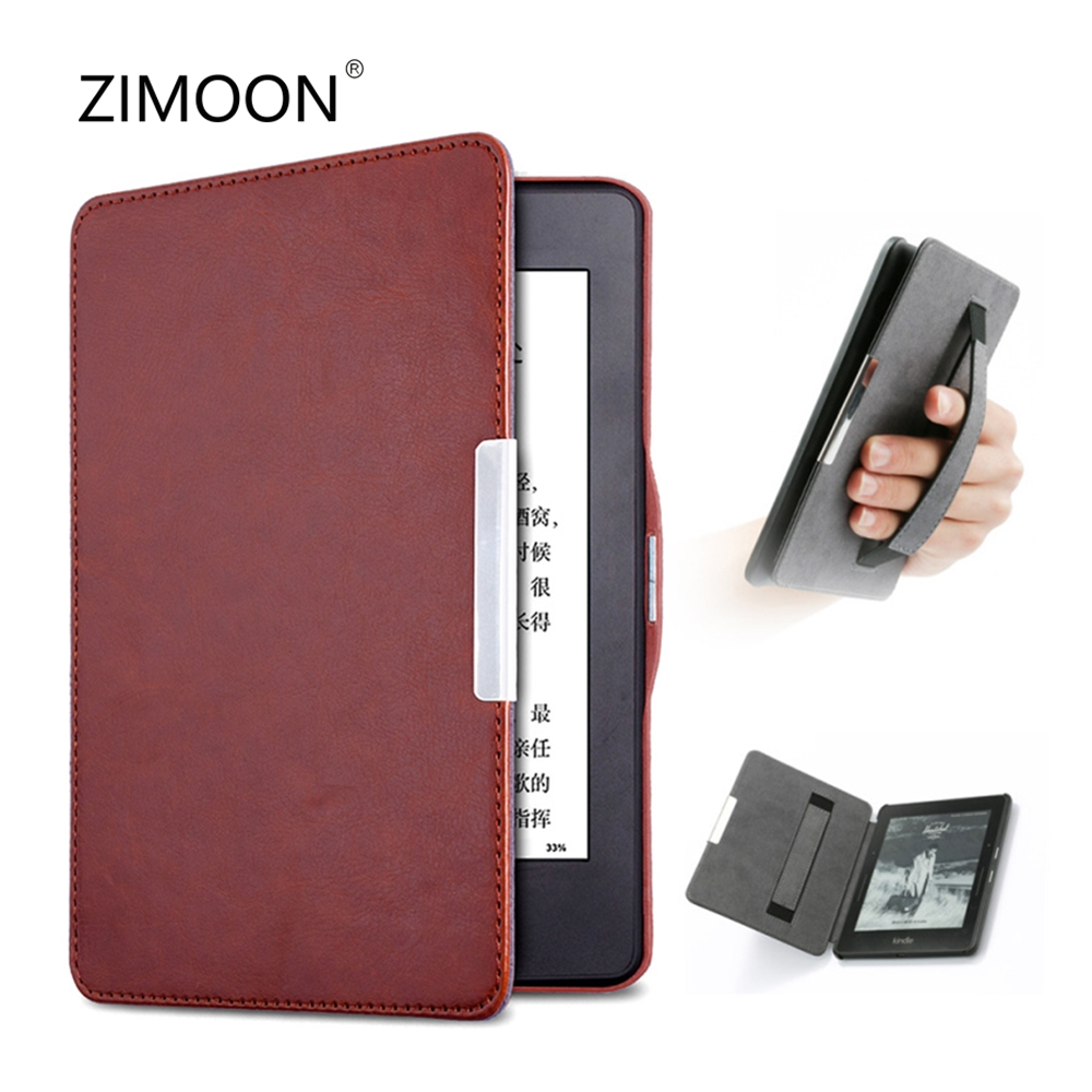 For Amazon Kindle Paperwhite Case PU Leather Smart Shell Cover with Hand Strap for Kindle Paperwhite 1/2/3 6' Tablet Case Tablets & e-Books Case     - title=