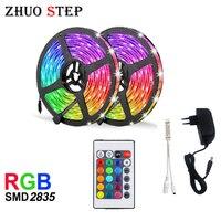 RGB LED 스트립 15M 20M Led 라이트 테이프 SMD 2835 5M 10M DC 12V 방수 RGB LED 라이트 다이오드 리본 유연한 컨트롤러