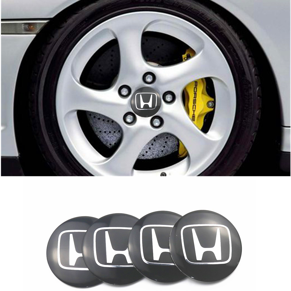 4Pcs Wheel Center Hub Cap Stickers 56.5mm Emblems For Honda Mugen Power Accord CRV Hrv Jazz Car Styling