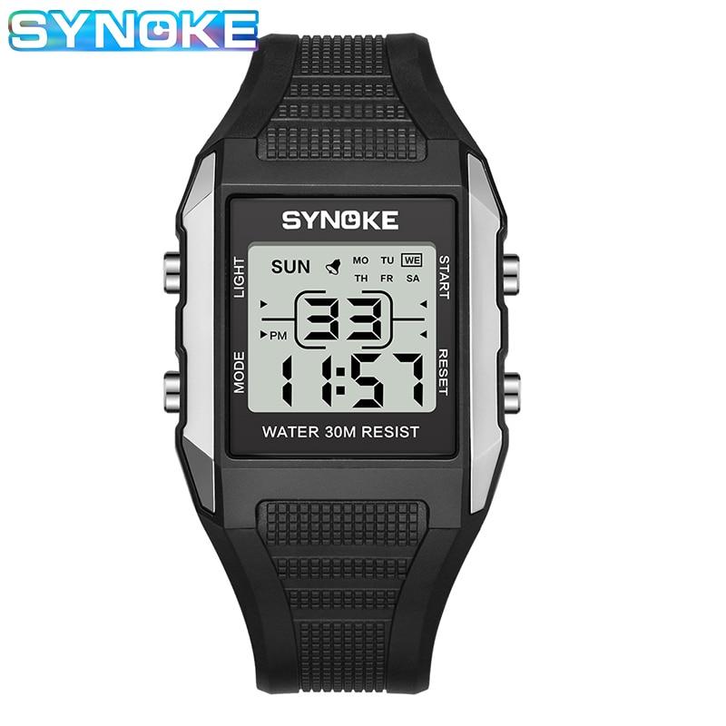 SYNOKE Kid Digital Sport Outdoor Waterproof Shock Resistant Boys Girls Wristwatch With Alarm,Timer,LED Light,Soft Rubber Strap