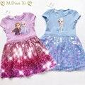 Mädchen Kleid Sommer Baby Kleidung Prinzessin Gefrorene Anna Elsa Kleid Schnee Königin Cosplay Kostüm Party Geburtstag kinder Kostüm