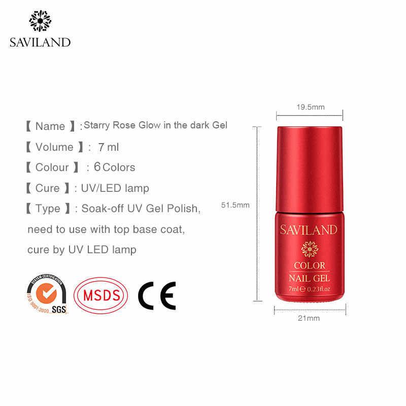 SAVILAND Glow Nagels Rode Glitter Gel Nagellak Ster Gel Varnish Soak Off UV Nodig Primer Jas Gel Nagellak