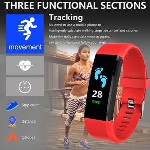 Image 5 - 115 Plus Smart Wristband Blood Pressure Watch Fitness Tracker Heart Rate Monitor Band Smart Activity Tracker Bracelet