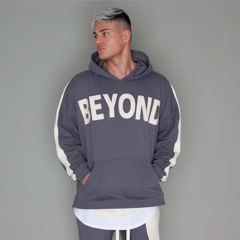 Image 5 - Hip Hop Mens Hooded Windbreaker Jacket Autumn 2019 Casual Vintage Color Block Loose Track Hoodie Jacket Coats Streetwear HipHopHoodies & Sweatshirts   -