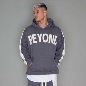 Image 5 - Hip Hop hommes à capuche coupe vent veste automne 2019 décontracté Vintage couleur bloc lâche piste à capuche veste manteaux Streetwear HipHop