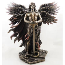 Resin Decorative Ormament Living Room Decoration Angel with Sword Serpent Big Wings Angel Statue Resin Statues Home Decoration