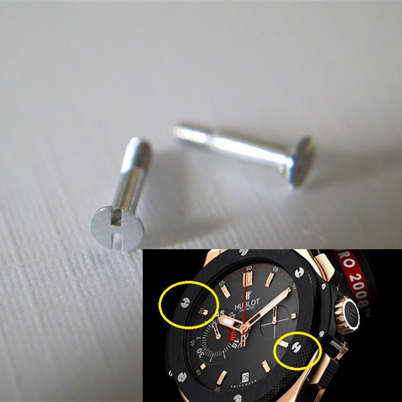 1 Pair Of  Replacement Part 6.5mm Watch Stainless Bezel Strap H Screw For Hublot