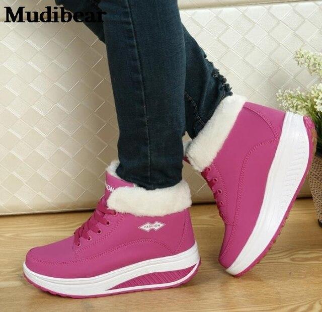 Купить mudibear 2020 зимние новые женские хлопковые туфли удобные увеличенные картинки цена