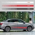 2 шт./лот, автомобильная наклейка, графика, боковой корпус, декоративные наклейки на дверь для Fiat TIPO, стайлинга автомобилей