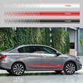 2pcs/lot Car Sticker Graphics Side Body Door Decoration Stickers For Fiat TIPO Car Styling