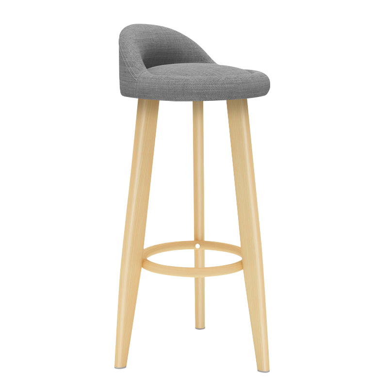 Solid Wood Bar Stool Wooden Chair  Table And  High    Modern Minimalist