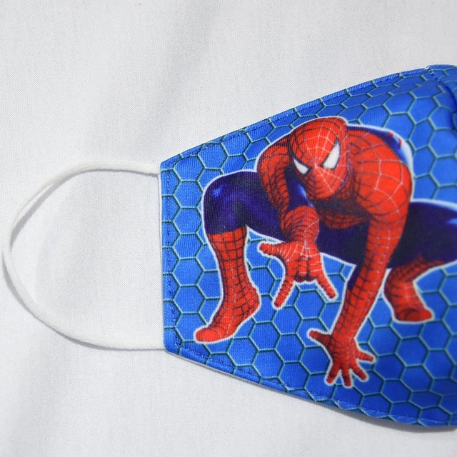 2020 Adult Kids Cotton Masks Spiderman Print Men Women Dustproof Earloop Face Mask Health Fashion Non-disposable Mouth Muffle 5