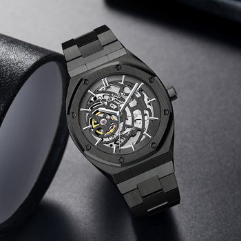 CADISEN Luxury Top Brand NH70A Automatic Mechanical Men's Watches Casual Hollow Out Dial Wristwatch Waterproof Relojes Hombre 5