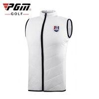 PGM Men Golf Jacket Vest Autumn Winter Thickening Plus Velvet Vest Outdoor Sleeveless Full Zipper Warm Vest Coat M XXL D0833