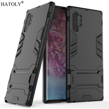 For Samsung Galaxy Note 10 Plus Case Robot Armor PC Phone Cover for Galaxy Note 10 Plus Protective Case for Samsung Note 10 Plus цена