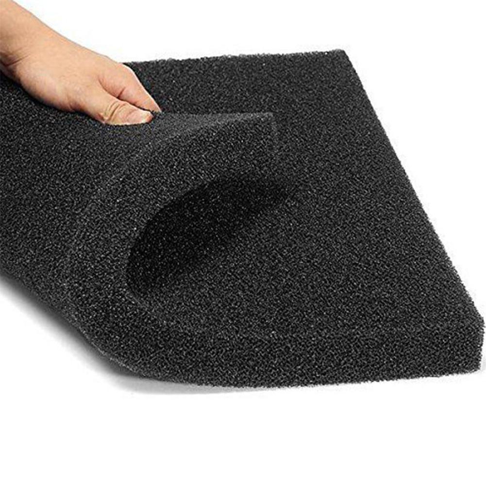 LumiParty 1pc Fish Tank Water Purified Filter Black Biochemical Foam Aquarium Pond Sponge Filtration Pad Material 50x12x2cm