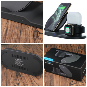 Image 5 - 3 IN 1 QI kablosuz şarj cihazı iPhone 11 PRO Max Apple Watch iWatch 1 2 3 4 5 Airpods pro 10W hızlı kablosuz şarj cihazı