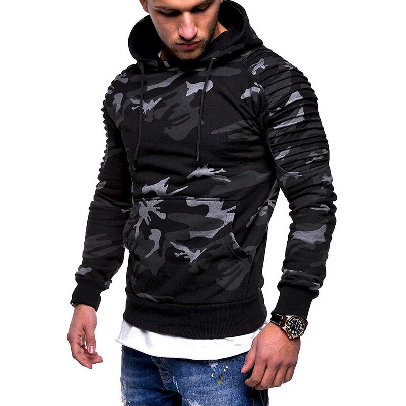 Fashion Camouflage Hoodie Men Autumn Winter Sweatshirt Long Sleeve Casual Hip Hop Hoody Men Camo Pullovers Plus Size 3XL 2019