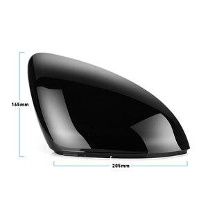 Image 5 - 2 قطع ل VW Golf 7 MK7 7.5 GTD R GTI Touran L E GOLF الجانب غطاء لمرايات السيارة الجانبية قبعات مشرق الأسود مرآة الرؤية الخلفية الغلاف
