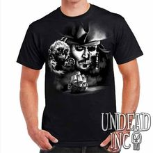 Pirates Of The Caribbean Undead Jack Sparrow Black Pearl - Mens T Shirt New