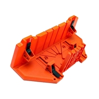 Multifunctional Miter Saw Box Cabinet 0/22.5/45/90 Degree Saw Guide Woodworking - Orange  14inch with Clamp