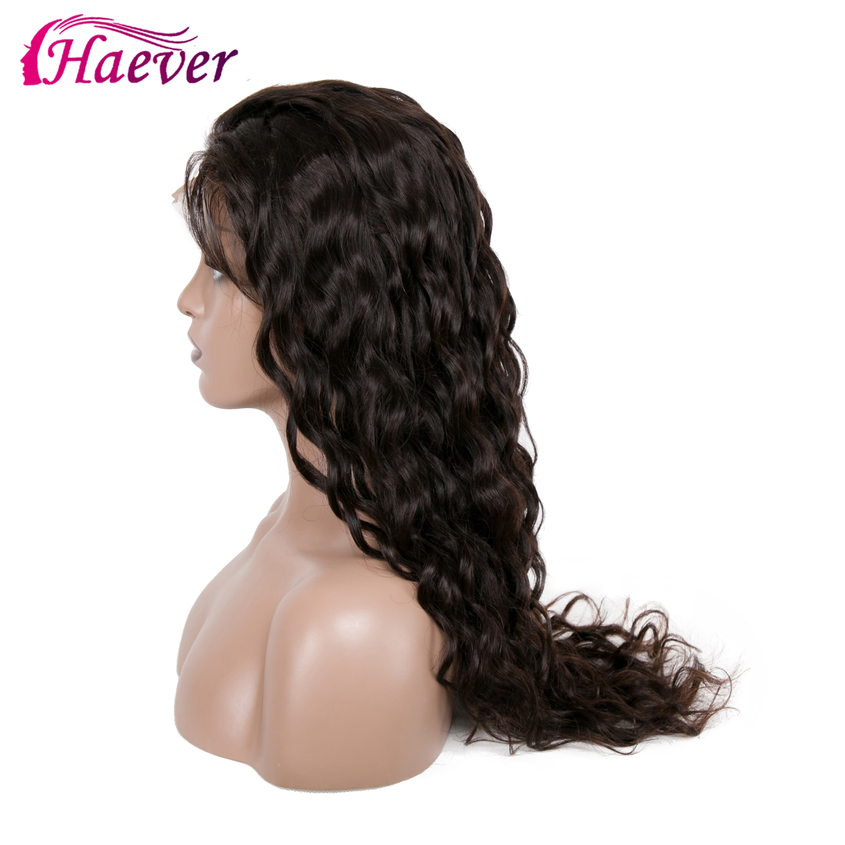 Haever 13X4 Lace Front Human Hair Wigs Water Wave PrePlucked Brazilian Remy Virgin New Hair Natural Wig 180 Density Frontal