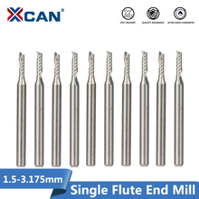 1XCAN 10pcs 2x8mm 3.175 שוק יחיד חליל ספירלה נתב Bits עבור לחתוך עץ/פלסטיק CNC כרסום קאטר 1 חליל סוף טחנות