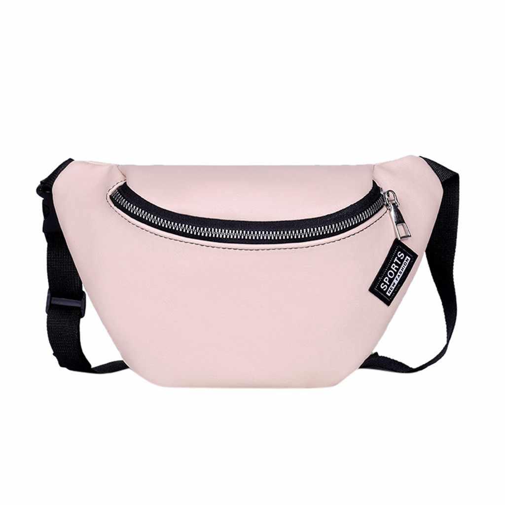 الخصر حقيبة حزمة مراوح للرجال النساء أكياس الصدر قماش الكلى حقيبة بحزام سستة الرياضة Harajuku محفظة نيركا كيس banane فام #25