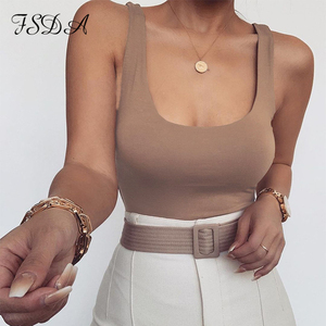 FSDA O Neck Women Sleeveless Bodysuit Black 2020 Summer Sexy Body Tops Backless Casual Off Shoulder Party Basic Ladies Bodysuits
