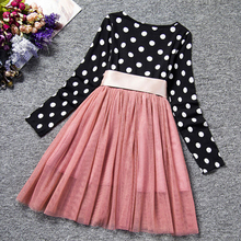 Fashion Spring Autumn Long Sleeves Girls Clothes Casual School Dress For Mini Tutu Kids Girl Party Wear Clothing Hot