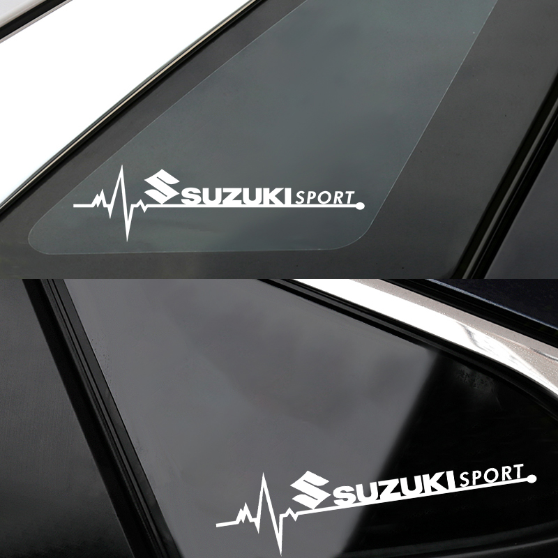 2pcs New Car SPORT Emblem Badge Car Windows Body Side Sticker  For Suzuki Swift SX4 Vitara Jimny S-CROSS Swift 2007 2008 2018